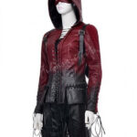 Arrow Thea Queen Red Hood Leather Jacket-600x900w