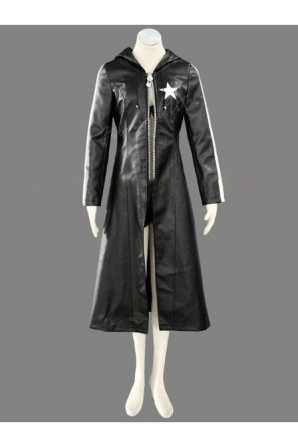 Black Rock Shooter Trench Leather Jacket Coat