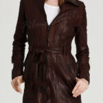 Castle Kate Beckett Brown Leather Coat Jacket-600x900w