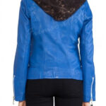 The Mortal Instruments City of Bones Clary Fray Blue Leather Jacket