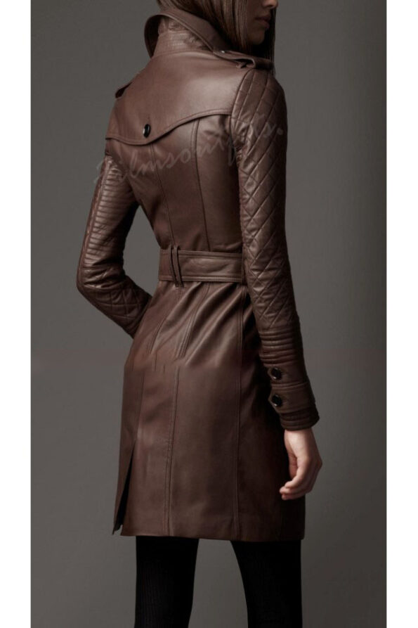 Kate Beckett Leather Trench Coat Castle-600x900h