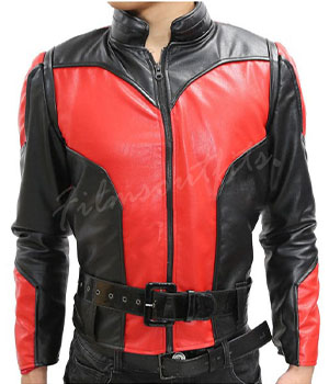 Ant-Man Scott Lang Black and Red Leather Jacket Costum