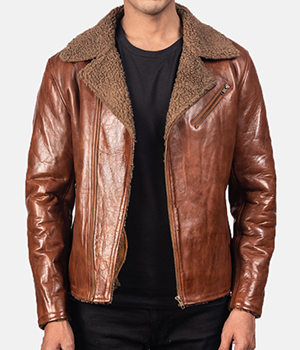Alberto-Shearling-Brown-Leather-Jacket