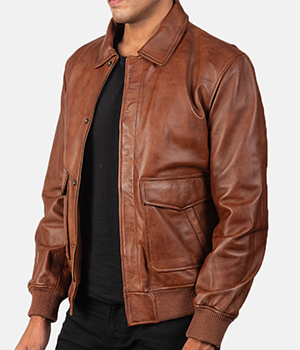 Coffmen-Brown-Leather-Bomber-Jacket