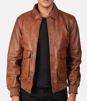 Coffmen-Brown-Leather-Bomber-Jacket4