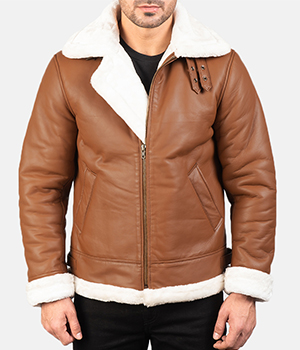 Francis-B-3-Brown-Leather-Bomber-Jacket 1