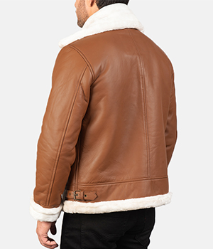 Francis-B-3-Brown-Leather-Bomber-Jacket 2