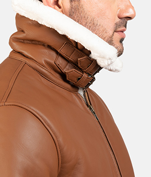 Francis-B-3-Brown-Leather-Bomber-Jacket 3