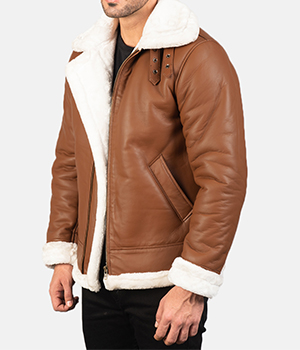 Francis-B-3-Brown-Leather-Bomber-Jacket