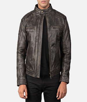 Gatsby Distressed Brown Leather Jacket1
