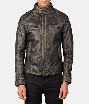 Gatsby Distressed Brown Leather Jacket2