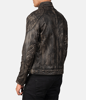 Gatsby Distressed Brown Leather Jacket3