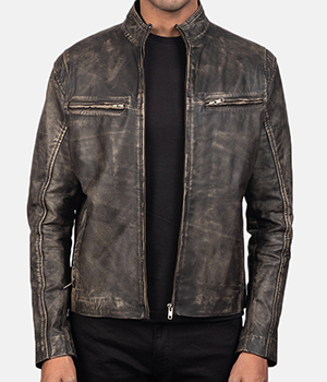 Ionic-Distressed-Brown-Leather-Biker-Jacket