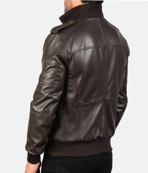 Agent-Shadow-Brown-Leather-Bomber-Jacket4