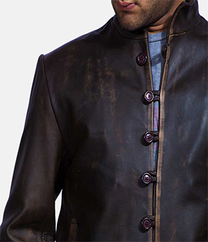 Drakeshire Brown Leather Jacket1