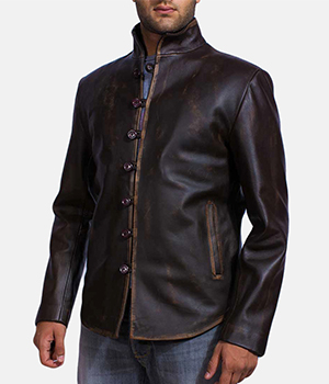 Drakeshire Brown Leather Jacket2
