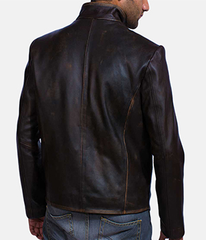 Drakeshire Brown Leather Jacket3