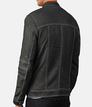 Youngster Distressed Black Leather Jacket3