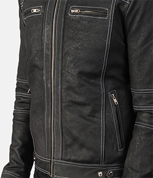 Youngster Distressed Black Leather Jacket4